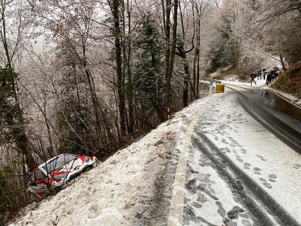 La faute d'Elfyn Evans (Rally Monza)