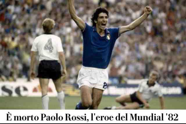 « L'Italie était tombée amoureuse » de Paolo Rossi, le héros du Mondial 82, décédé mercredi soir
