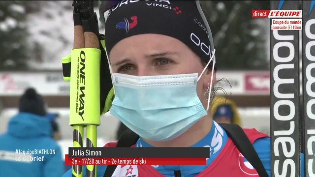 Julia Simon a « réussi à (se) libérer » lors de la poursuite à Hochfilzen