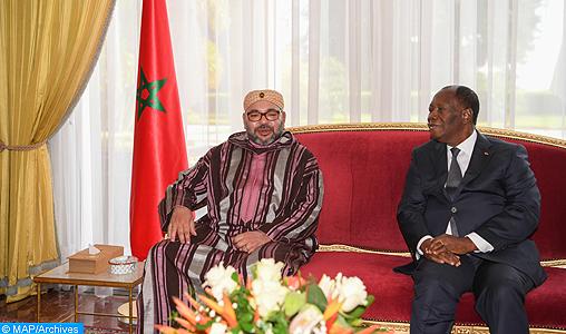Guergarate : Le Président ivoirien assure SM le Roi de la solidarité et du plein soutien de son pays aux initiatives du Souverain
