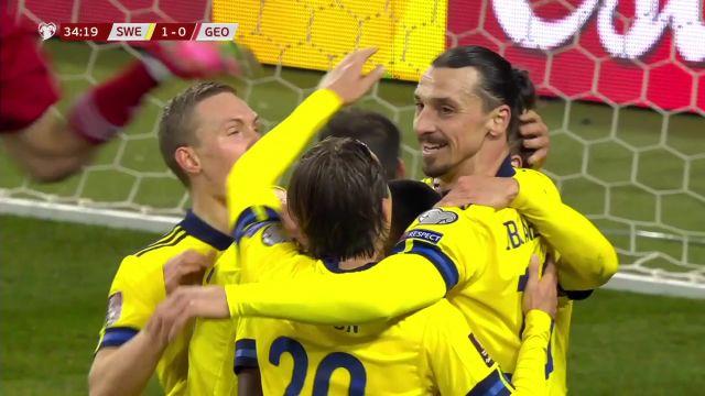 Avec Zlatan Ibrahimovic, la Suède bat la Géorgie en qualification pour la Coupe du monde 2022