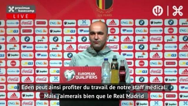 Roberto Martinez : Eden Hazard « meurt d'envie de revenir sur les terrains »