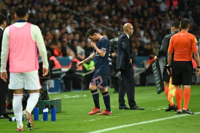 Messi s'est blessé dans un choc avec Boateng lors de PSG-OL