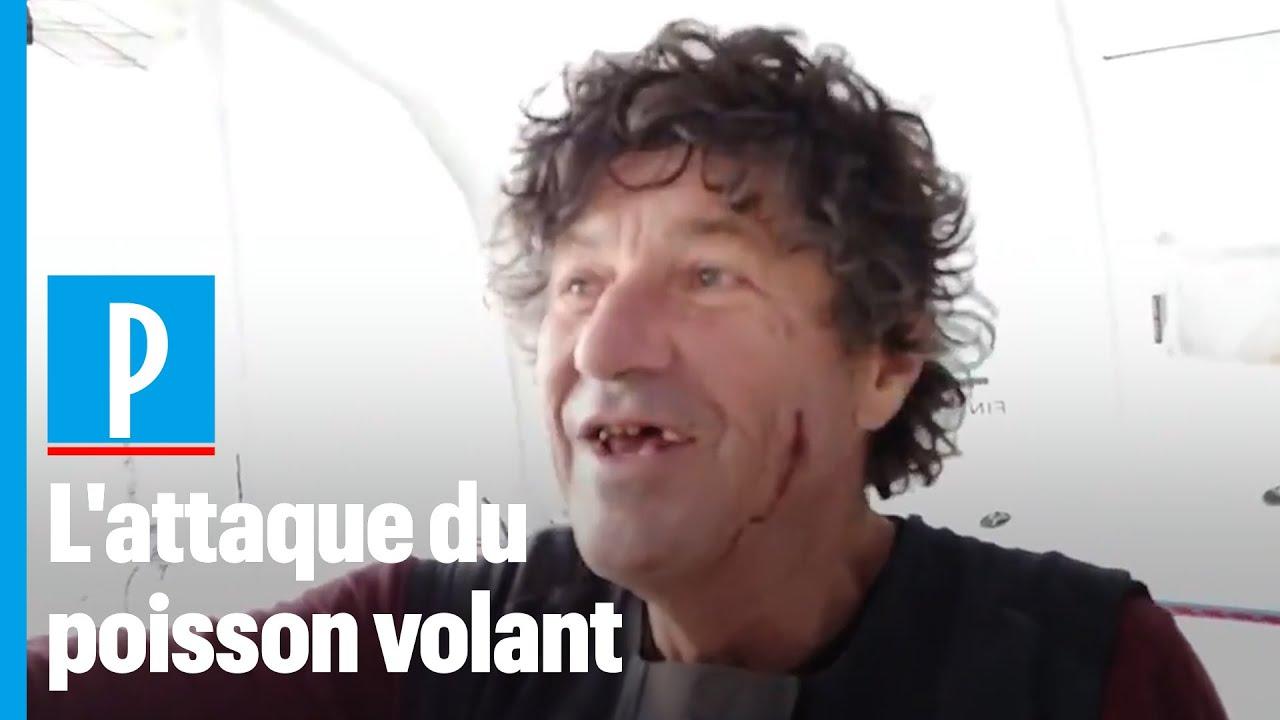 Vendée Globe : Jean Le Cam blessé au visage , percuté par un poisson volant