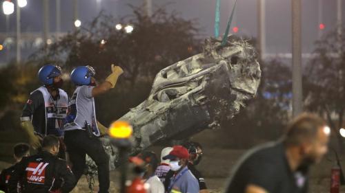 VIDEO. Formule 1 : qu'est-ce que le halo, ce dispositif qui a sûrement sauvé la vie de Romain Grosjean lors de son accident ?