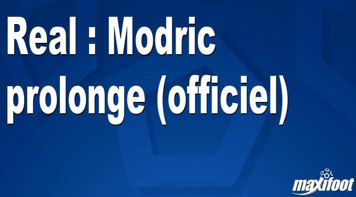 Real : Modric prolonge (officiel)