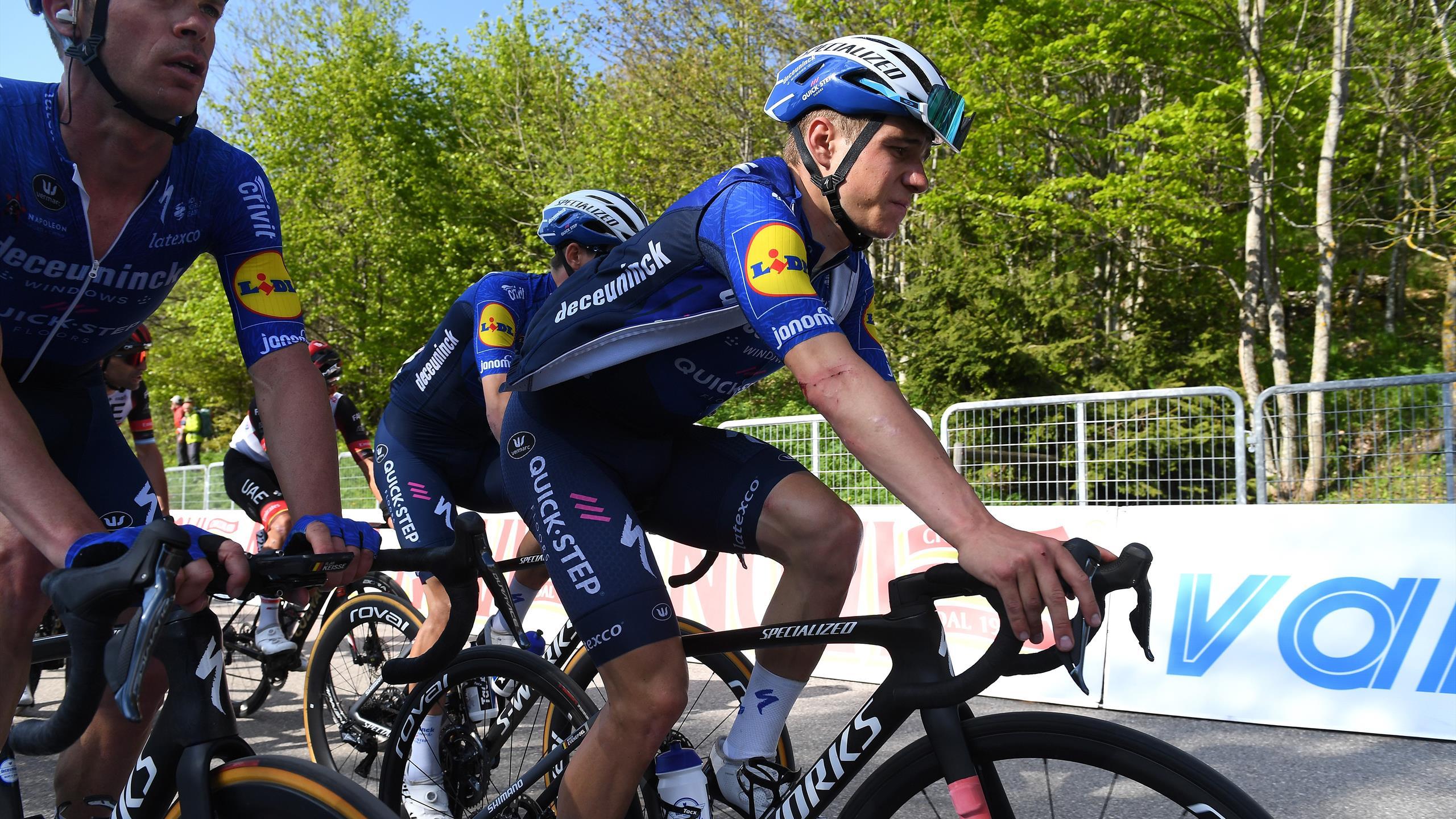 Remco Evenepoel (Deceuninck -Step) ne continue pas le Giro après une chute mercredi sur la 17e étape
