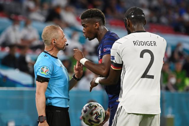 Pas de sanction de l'UEFA après la morsure d'Antonio Rüdiger sur Paul Pogba